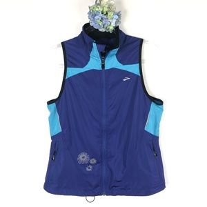 Brooks Running Zip Up Vest Vented with Pockets M